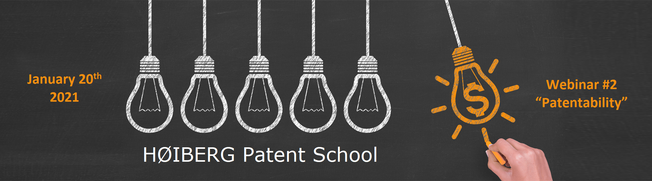 Welcome to HØIBERG Patent School: webinar on Patentability